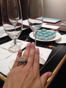 My ring matches beautifully💍💍