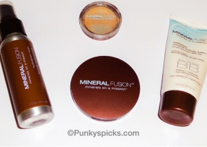 Mineral Fusion Hydration Mist, Pressed Powder Foundation, Concealer Duo, Untinted Mineral Beauty Balm SPF 30