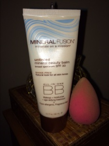 Mineral Fusion BB Cream Untinted and my Beauty Blender. I used these both together for full coverage with my Alima Pure Foundation